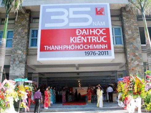 Kỷ niệm 35 năm thành lập Đại học Kiến Trúc TP HCM