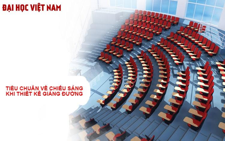 Tiêu chuẩn thiết kế chỗ ngồi trên giảng đường trường đại học