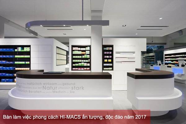 Bàn làm việc phong cách HI-MACS ấn tượng, độc đáo năm 2017