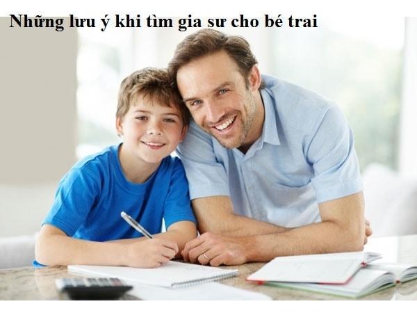 10 lời khuyên hữu ích khi tìm gia sư cho bé trai 1