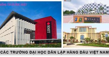 Các trường đại học dân lập hàng đầu Việt Nam