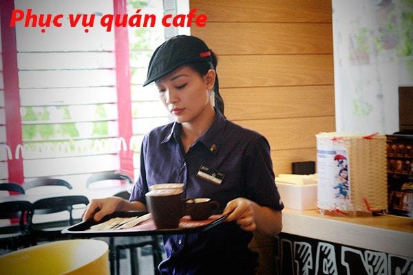 Sinh viên phục vụ quán ăn, quán cafe