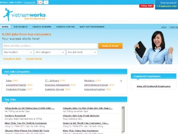 Có hàng trăm việc làm trên http://www.vietnamworks.com/
