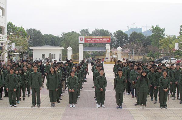 Giáo dục quốc phòng là môn học chính khóa của bậc THPT