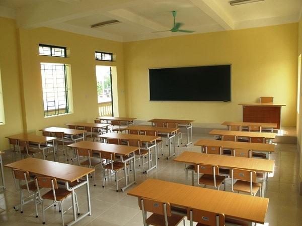 Phòng học đầy đủ ánh sáng bảo vệ thị lực của học sinh