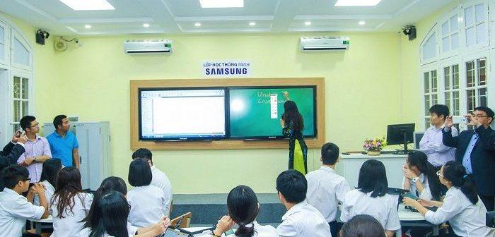 Thiết bị trong phòng học thông minh theo tiêu chuẩn giáo dục