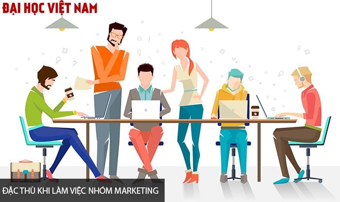 Đặc thù khi làm việc nhóm Marketing
