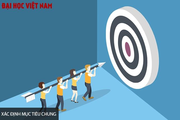 Làm việc nhóm cần xác định mục tiêu chung
