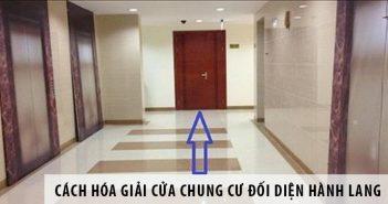 Cách hóa giải cửa chung cư đối diện hành lang