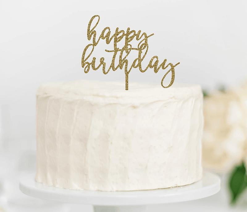 Bánh sinh nhật đơn giản và trang nhã