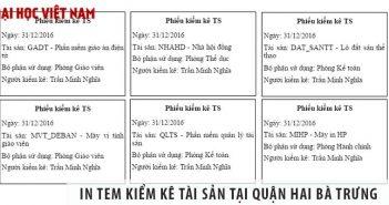 In tem kiểm kê tài sản quận Hai Bà Trưng tại Sơn Nguyên