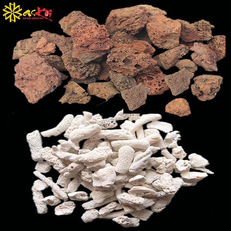 Đá nham thạch có 2 loại đỏ và trắng